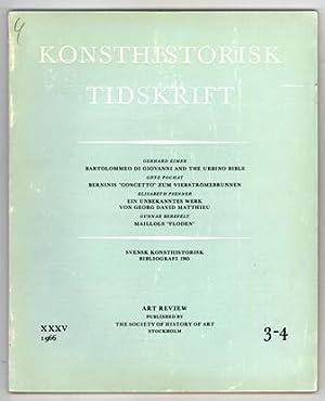 Konsthistorisk tidskrift. Årg. 35 (1966), häfte 3-4.: Bartolommeo di Giovanni