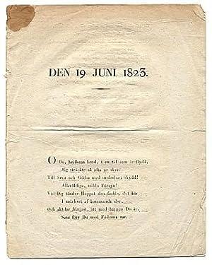 Den 19 juni 1823.: Wallin, Johan Olof]