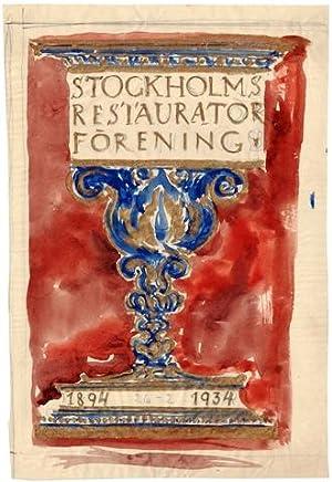 Stockholms Restauratörsförening 1894-1934.: Lybeck, Bertil (1887-1945)
