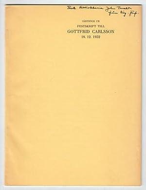 Professor Gottfrid Carlssons skrifter. En bibliografi.: Carlsson, Gottfrid) - Carlsson, Signe