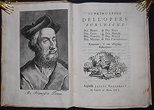 Il primo (- terzo) libro dell' opere: Berni, Francesco u.a.