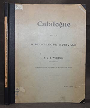 Catalogue de la bibliotheque musicale.