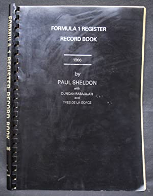 Formula 1 Register Record Book 1966.