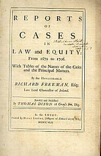 REPORTS OF CASES IN LAW AND EQUITY: from 1670 to 1706, With tables of the names of the cases and ...