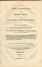 ON THE NOBILITY OF THE BRITISH GENTRY, or the political ranks and dignities of the British Empire, ...