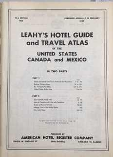 Leahy's hotel guide and travel atlas of the United States, Canada and Mexico