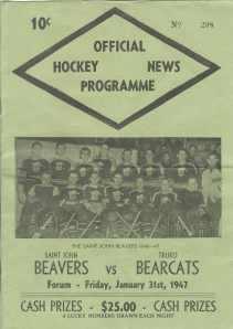 OFFICIAL HOCKEY NEWS PROGRAMME; Saint John Beavers Vs Truro Bearcats, Forum Friday, January 31st ...