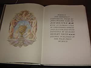PERFECT AND IMPERFECT ENJOYMENTS: POEMS BY JOHN WILMOT EARL OF ROCHESTER: WILMOT JOHN