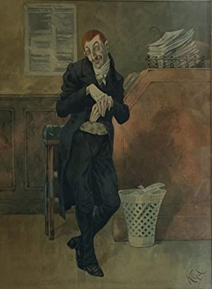 "Original Watercolor from ""David Copperfield"": DICKENS, Charles"