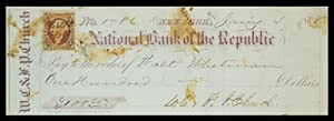 Walt Whitman Signed Check: WHITMAN, Walt