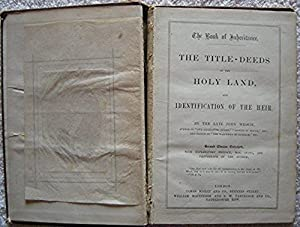 The book of inheritance: the title-deeds of the holy land and identification of the heir [Hardcov...