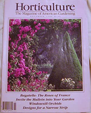 Horticulture The Magazine of American Gardening November 1986