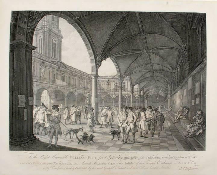 [Pair of Prints] To the Right honorable William Pitt . this Accurate Perspective View of the Outside [. this Accurate Perspective View of Inside] of