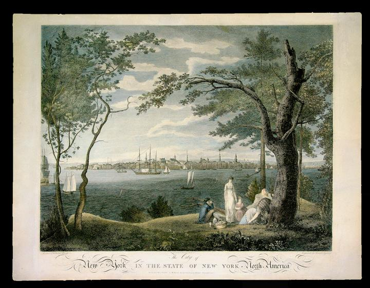 The City of New York in the State of New York, North America: BIRCH, William (1755-1834, artist). -...