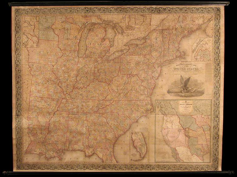 Mitchell's Reference and Distance Map of the United States: MITCHELL, S. Augustus, and J. H. ...