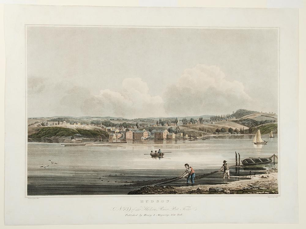 Hudson. No. 13 of the Hudson River Port Folio: HILL, John (1770-1850, engraver) & William Guy WALL ...