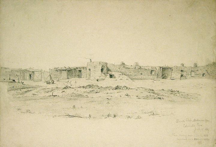 [Bent's Fort on the Santa Fe Trail, Colorado Territory]: KENSETT, John Frederick (1816-1872)