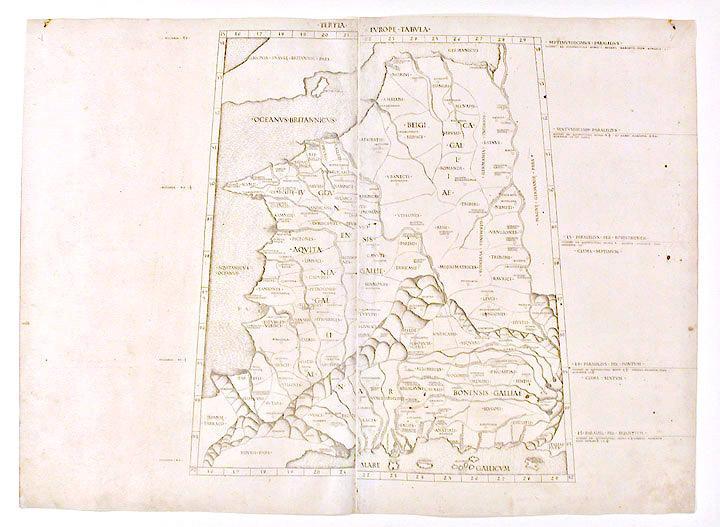 Tertia Europe Tabula: PTOLEMY, Claudius (90-168 A.D.)
