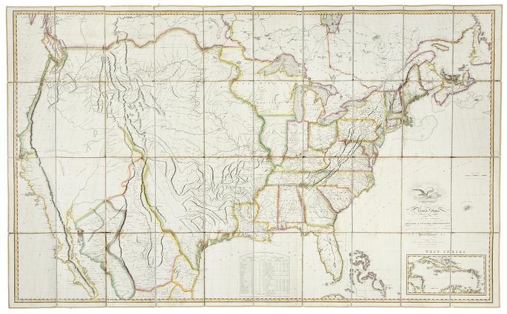 Map of the United States with the contiguous...