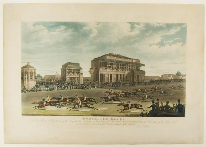 [St. Leger. Passing the Judges' Stand] Doncaster Races. To the Noblemen and Gentlemen of the Turf and the Subscribers to the Great St. Leger Stakes,