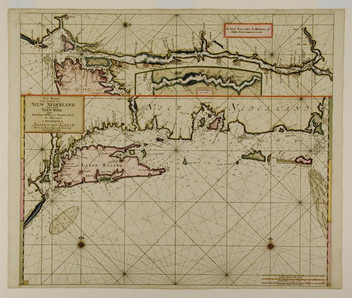 Pas kaart van de Zee kusten van Nieuw Nederland anders genaamt Niew York: KEULEN, Johannes van (...