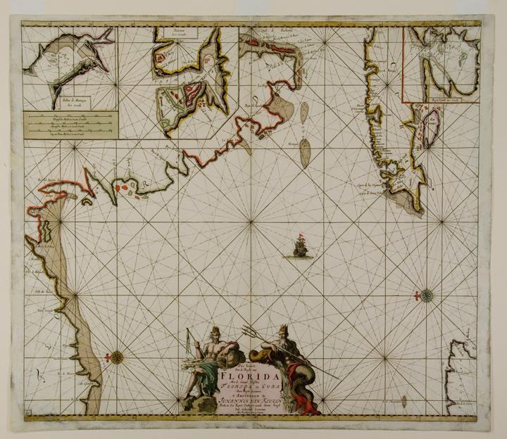 Pas kaart Van de Boght van Florida Met de canaal tusschen Florida en Cuba door C. J. Vooght ...