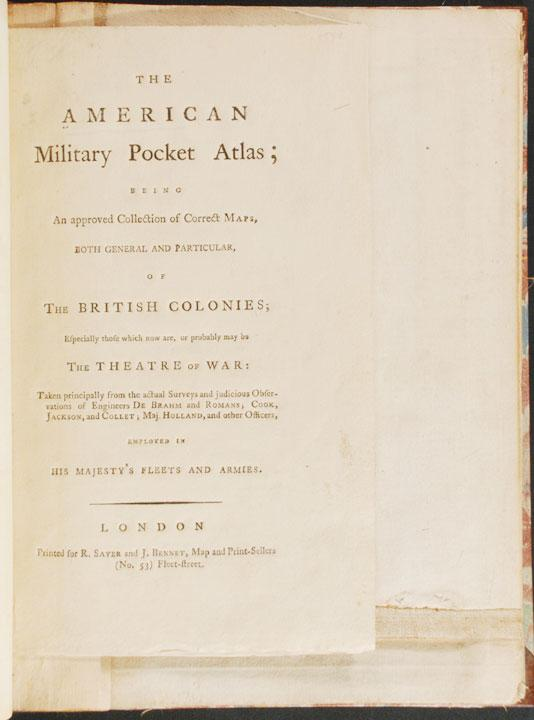 The American Military Pocket Atlas; being an approved collection of correct maps, both general and ...