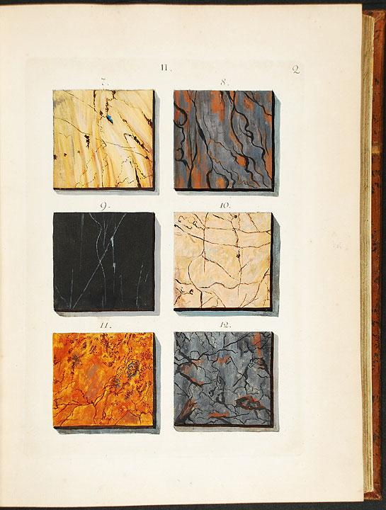 A Representation of Different Sort[sic.] of Marble, ingraved[sic.] and set out in their natural ...