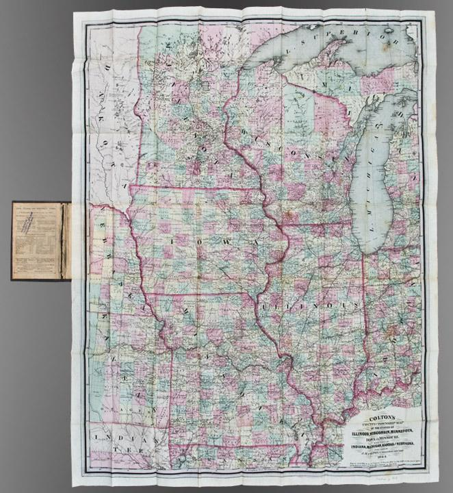 Colton's County and Township Map of the States of Illinois, Wisconsin, Minnesota, Iowa and ...