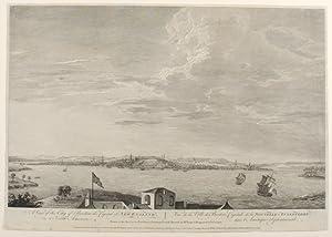 A view of the city of Boston, the capital of New England, in North America. Vue de la Ville de ...
