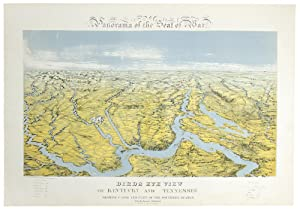Panorama of the Seat of War. Birds Eye View of Kentucky and Tennessee showing Cairo and part of the...