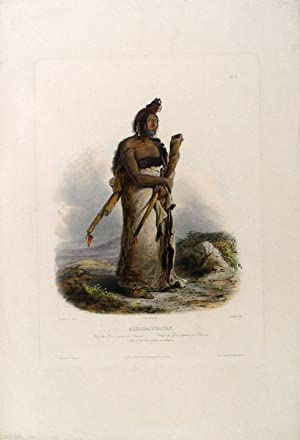 Mexkemahuastan. Chief of the Gros-ventres des Prairies