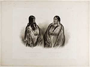 Woman of the Snake-Tribe. Woman of the Cree- Tribe: BODMER, Karl (1809-1893)
