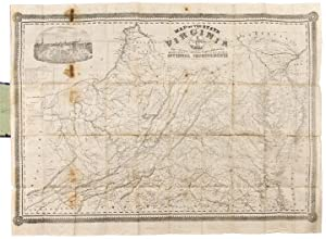 Map of the State of Virginia containing the counties, principal towns, railroads, rivers, canals ...