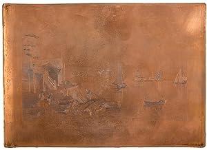 Prescott from Ogdensburg Harbor [Original copper printing: MAGNUS, Charles (1826-1900)