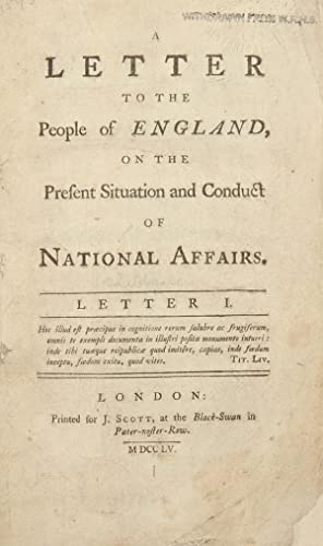 A Letter to the People of England,: SHEBBEARE, John (1709-1788)]