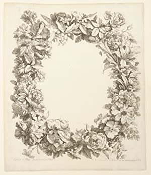 [Album of 17 engraved plates of bouquets of flowers in vases, baskets or garlands from:] [Livre d...