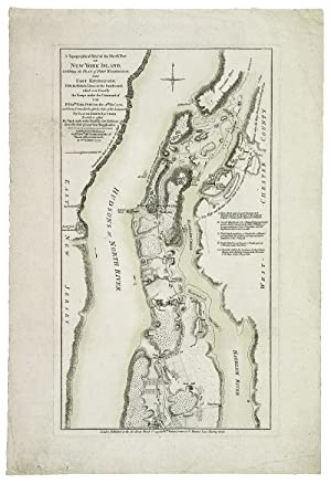 A Topographical Map of the North Part of New York Island, Exhibiting the Plan of Fort Washington, ...