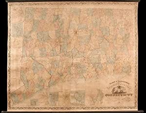 Clark & Tackaburys New Topographical Map of the State of Connecticut. Compiled from New and Accur...