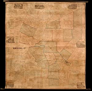 Gillette's Map of Oneida Co. New York from actual surveys under the direction of J. H. French