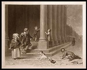 Children Throwing Snow Balls: WARD, William (1766-1826) after Richard Morton PAYE