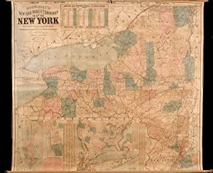 Bridgeman's New Rail Road & Township Map of New York.