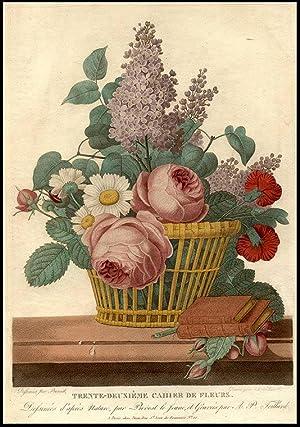 Still-life of Flowers in a Basket, on: PREVOST, Jean Louis