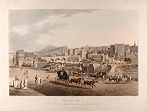 Edinburgh. A View of the Old Town, taken from Princes Street: KAY, After A.