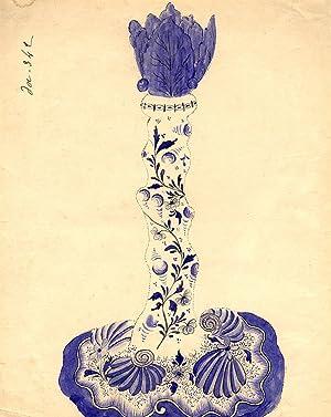 An original design for a porcelain candlestick: SAMSON & CO. (designers)