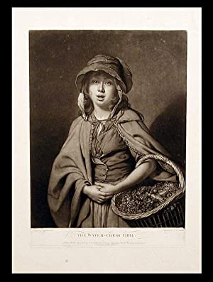 The Water-cress Girl; The Flower Girl. Engraved: ZOFFANY, After Johan
