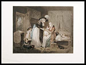 A Visit to the Child at Nurse: WARD, William (1766- 1826) after George MORLAND (1763-1804)