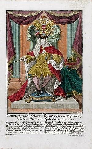 Holy Roman Emperor Charles VI] Carolus VI. D. G. Roman Imperator German Hisp. Hung. Bohem. Rex &amp...