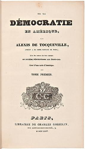 De la Démocratie en Amérique: TOCQUEVILLE, Alexis de (1805-1859)