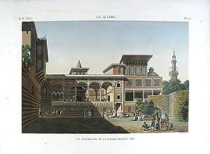Le Kaire. Vue Intérieure de la Maison d'Osmàn Bey: DESCRIPTION DE L'EGYPTE]